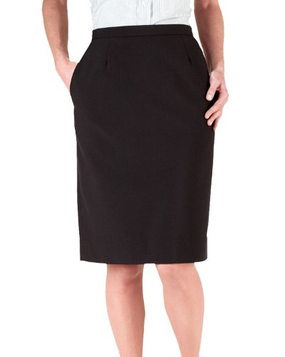 - Ed Garments Women's Waistband Straight Skirt, BLACK, 18W