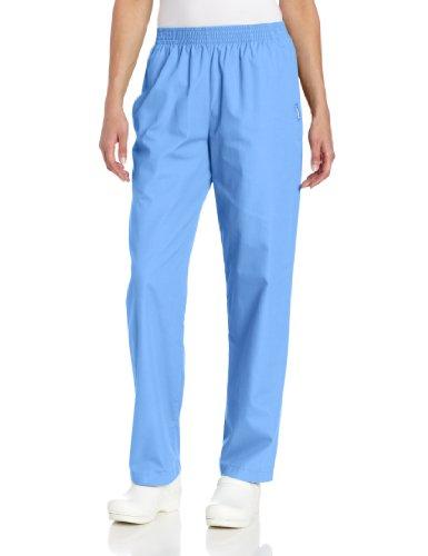 Classic Cotton Uniform (Landau Women's Classic Relaxed Scrub Pant, Ceil Blue, Small)