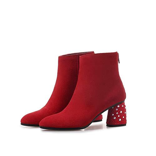 5 Sandales 36 Femme Red Compensées Abm12926 Balamasa Rouge Zqwaa0
