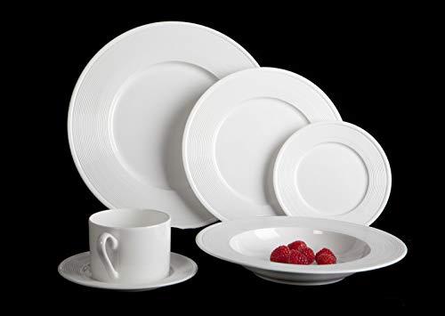Mikasa Ridge 24 Piece Bone China Dinnerware Set, Service for 4, ()