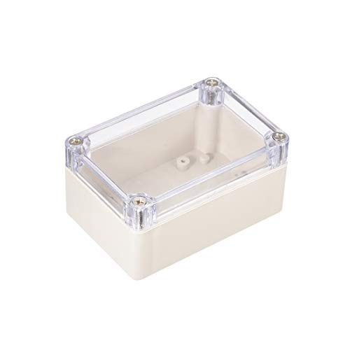 uxcell 3.9x2.7x2(100mm x 68mm x 50mm) ABS Junction Box Universal Project Enclosure w PC Transparent Cover