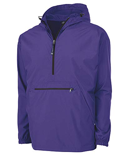 (Charles River Apparel Pack-N-Go Wind & Water-Resistant Pullover (Reg/Ext Sizes), Purple, XS)