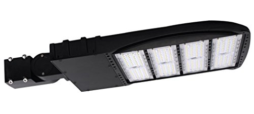 300 Watt NextGen LED Parking Lot Lights - 40,000 Lumen - Super Efficiency 130 Lumen to Watt - 5000K Bright White - Replaces 1000W Halide - LED Shoebox Lights - Slip Fit Mount - With photocell by RuggedGrade (Image #9)