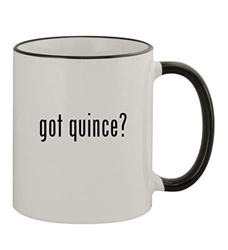 got quince? - 11oz Colored Rim & Handle Sturdy Ceramic Coffee Cup Mug, Black