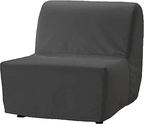The Dense Cotton Lycksele Chair Bed Sofa Replacement is Custom Made for Ikea Lycksele Single Sleeper Or Futon. A Lycksele Single Seat Slipcover Replacement (Cotton Dark Gray)