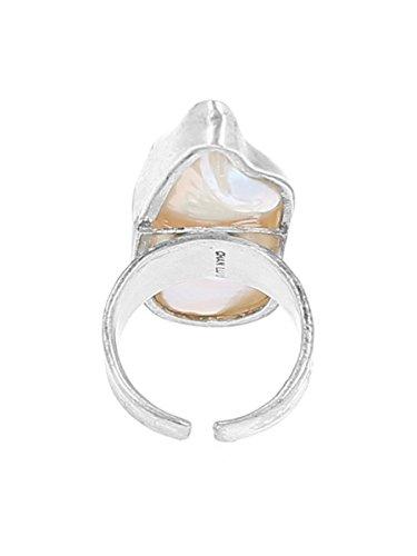 Chan Luu femme  Argent 925/1000  Argent #Silver Baguette  Perle d'eau douce chinoise Blanc Perle FASHIONRING