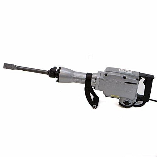 (O&HP) 2200W Electric Demolition Jack Hammer (1900RPM) Concrete Breaker Chisels Silver