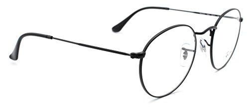 Ray-Ban RX3447V 2503 Round Metal Unisex Eyeglasses Matte Black Frame 50mm
