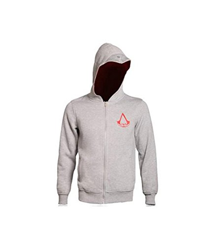 Elegant Men's Assassin's Creed Fleece Hoodie Sweatshirt Cosplay Costumes (US L+=Asia 3XL(Chest46.9