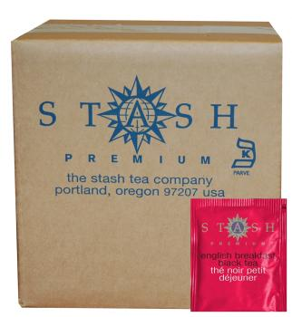 Stash Tea English Breakfast Black Tea, 100 Count Box of Tea Bags in Foil, Net Wt 7 oz