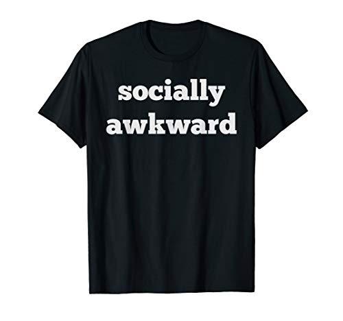 Socially Awkward Teenager Funny Geek Nerd Emo Shirt -