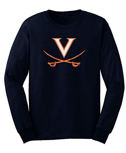 - Elite Fan Shop NCAA Men's Virginia Cavaliers Long Sleeve Shirt Team Icon Virginia Cavaliers Navy X Large