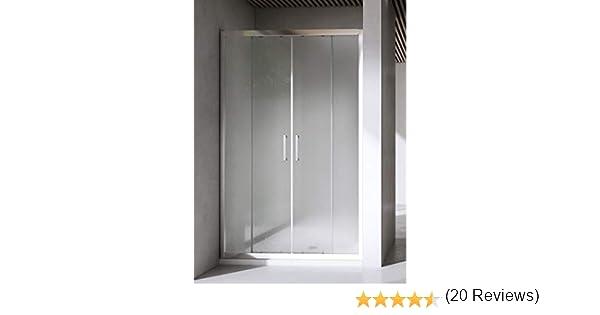 Yellowshop - Mampara de ducha con puerta corredera de vidrio templado de 6 mm, transparente o puntillado, disponible en varias medidas, multicolor: Amazon.es: Bricolaje y herramientas