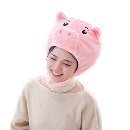 Happy Easter Gift - HYYER Pig Hat Cap Animal Plush Gift Cosplay Halloween Easter Party Birthday Kids