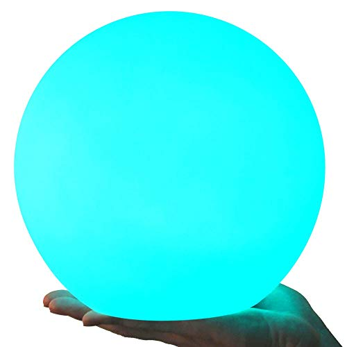 LOFTEK LED Light Ball : 8-inch RGB Rechargeable Kids Night Light with Remote Control, Home Decoration Floating Pool Lights, UL Listed Adapter, IP65 Waterproof Orbs,Perfect for Nursery or Decor -