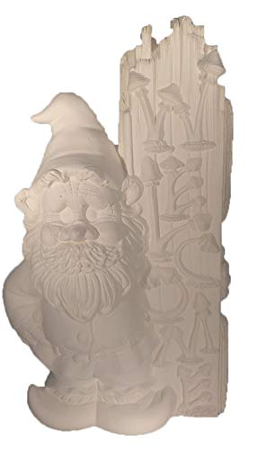 """Welcome Gnome 16"""" x 8"""" Ceramic Bisque, Ready to Paint"""