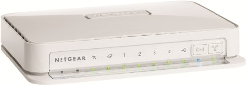 Netgear WNR2200-100PES Wireless-N 300 Router mit USB 2.0