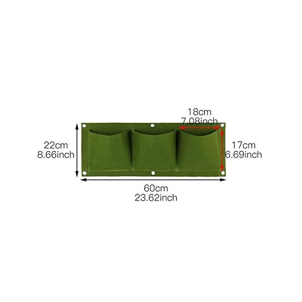 HONIC Wall Hanging Piantare Borse 24 Dimensioni Tasche Verde coltiva Il Sacchetto Planter Verticale Orto Living Bonsai… 1 spesavip