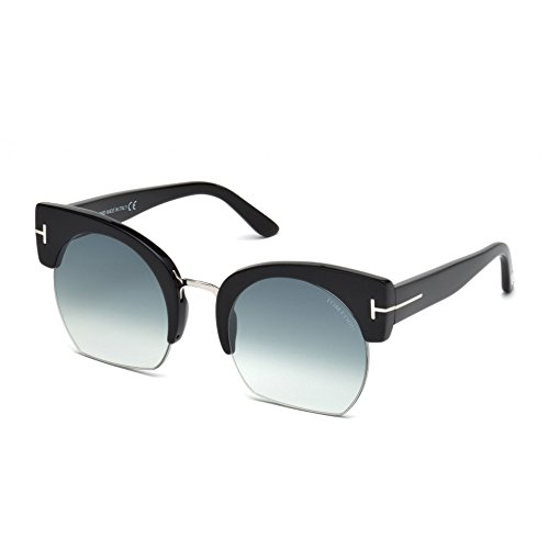 Tom Ford FT0552 Savannah-02 Sunglasses 55 01W Shiny Black Gradient - Ford Clothes Men For Tom