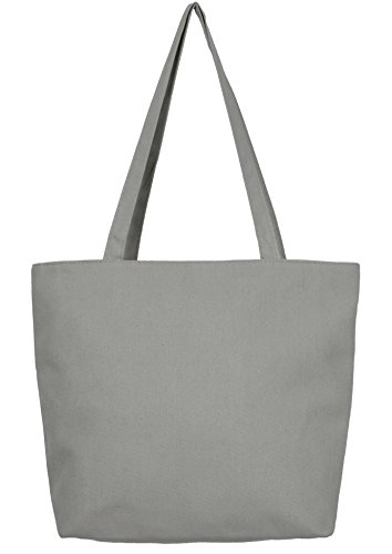 Floral Beach Bag (Leisureland Water Resistant Canvas Beach Tote Bag (One Size, Solid Gray))