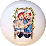 Ceramic Knob - #RA002 - Raggedy Ann Andy