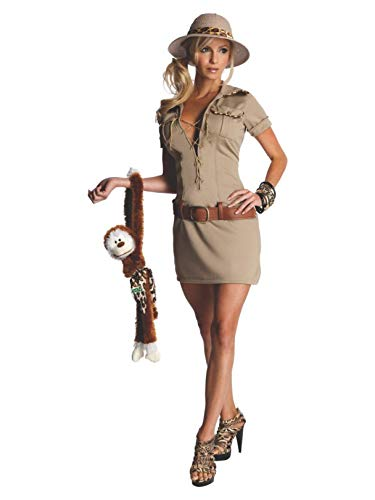 Secret Wishes Womens Tarzan Hunter Jane Costume, Khaki, X-Small -