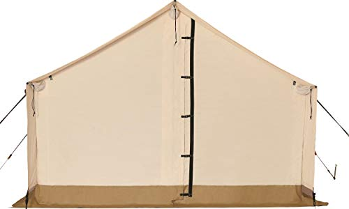 WHITEDUCK Complete Canvas Wall Tent with Heavy Duty Aluminum Frame