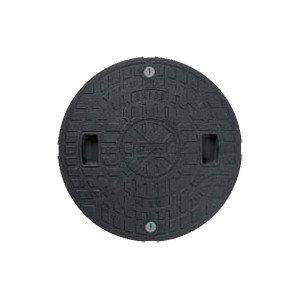 マンホールカバー(枠なし) 樹脂製 耐圧2トン 600型 JT2-600C-1(ロック付) 城東テクノ B004Y3NV8C 17523