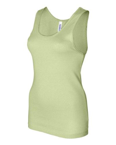 - Bella Ladies' 11 Rib Tank Top 1080, Medium, Lime Wedge