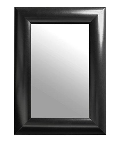 Black Rectangular Framed Mirror 14x18 Inch