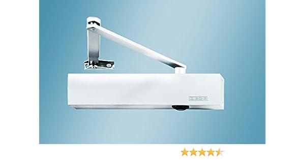 GEZE TS4000 TS 4000 RAL 9016 - Cierrapuertas (incluye placa de montaje y varillas), color blanco: Amazon.es: Coche y moto