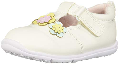(Carter's Every Step Bella Baby Girl's Walking T-Strap Sneaker, White, 3.5 M US Infant)