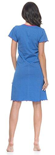 notte maternità laterale 100 per cotone e Camicia grigio blu colore cielo Rosa allattamento per camicia colore da q5xYwwtS