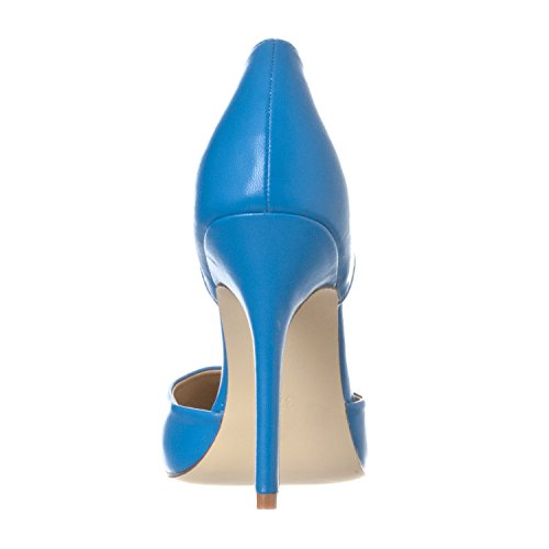 Nora Blue D'Orsay Toe Slip Pointed PU Women's Heels Riverberry Pump On 5nqTaTz