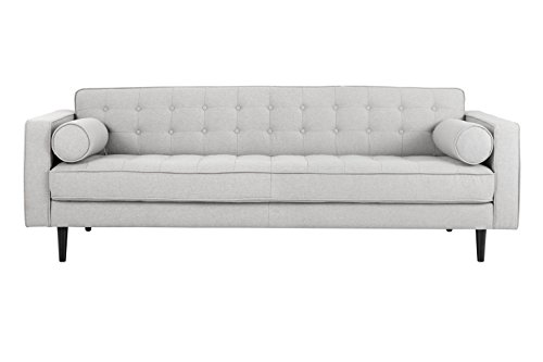 Sunpan Modern 5West Sofas, Light Grey Fabric