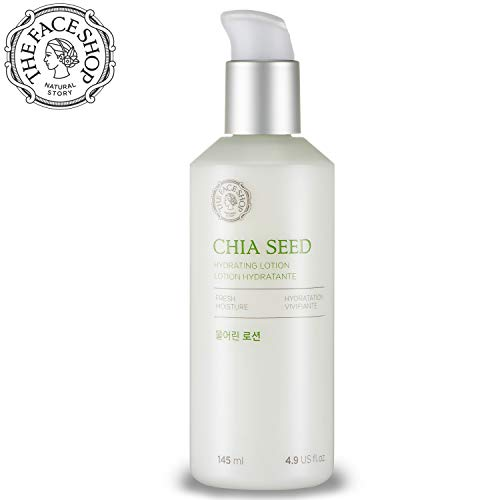 - [THEFACESHOP] Chia Seed Hydrating Emulsion Lotion, Simple Skin Care Or Normal To Oily Skin, Dermatologist Tested 145mL/4.9Fl.Oz
