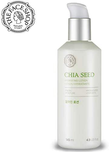 [THEFACESHOP] Chia Seed Hydrating Emulsion Lotion, Simple Skin Care Or Normal To Oily Skin, Dermatologist Tested 145mL/4.9Fl.Oz