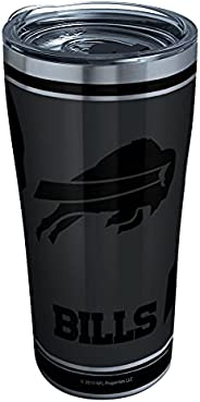 Tervis 1332174 NFL 100-Buffalo Bills Stainless Steel Insulated Tumbler with Clear and Black Hammer Lid, 20 oz,