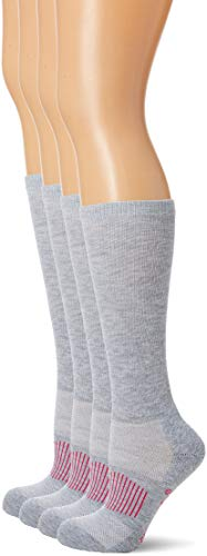 Wrangler Women's Ladies Western Boot Socks 3 Pair Pack, Grey, Medium