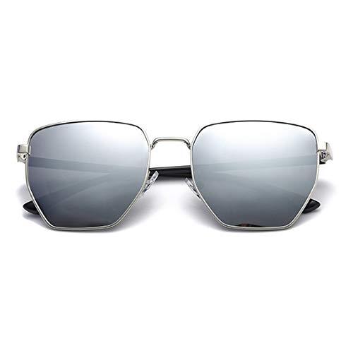 de 100 Protective Polarizado poligonales de Style Negro Ladies Unisex protección Gafas Gris Sol Color para Sumferkyh Hombre UV xPn7w7