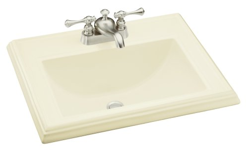 KOHLER K-2241-4-96 Memoirs Self-Rimming Bathroom Sink, (Kohler Memoirs Biscuit)