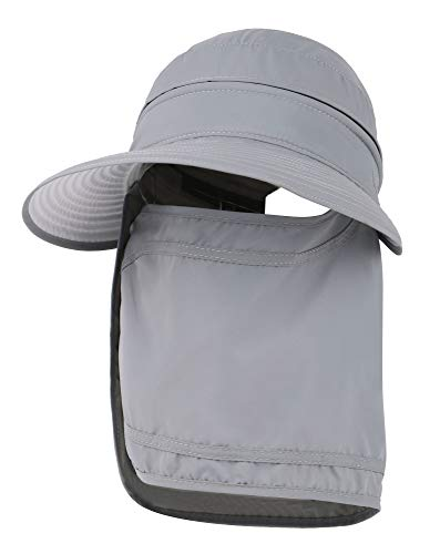 Simplicity Hats for Women UPF 50+ UV Sun Protective Convertible Beach Visor Hat