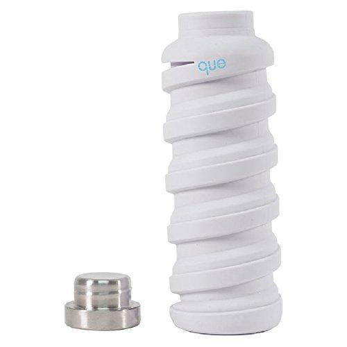 - que Bottle - Collapsible Water Bottle. BPA-Free, Leak Proof, Lightweight Travel Bottle. 20oz - Glacier White