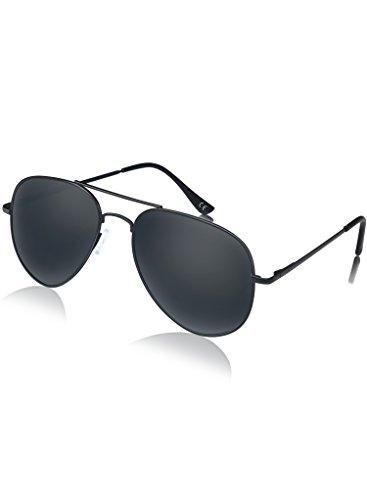 Aviator Sunglasses, Polarized UV 400 Sunglasses for Men & Women, made by - Aviator Sunglasses Big Black