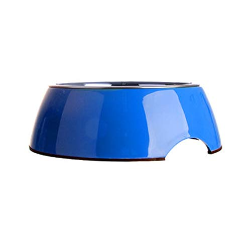 bluee SFFLSDR Cat Supplies, Round Stainless Steel Dog Bowl, Cat Bowl, Dog Supplies, Dog Food Bowl, Three colors Optional (color   Green, Size   XL)