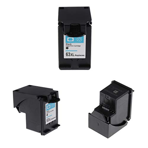 Homyl 3 Lot High Yield Black Printer Ink Cartridge Replacement for 1110 1115 2130 2135 3630 3830 4650 4520-63BK Color Model