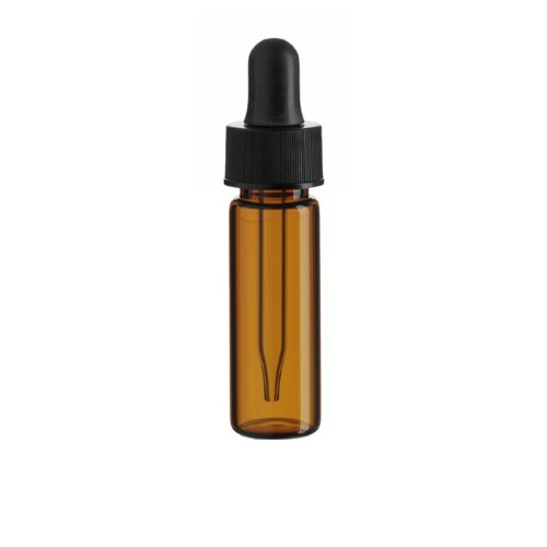 1 Dram AMBER Glass Vial - Dropper - Pack of 72 by Premium Vials