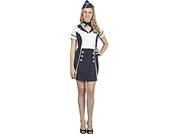 new product 910af 5d77b Blu Talla 38-40 Guirca- Costume da Hostess Donna 84577 ...