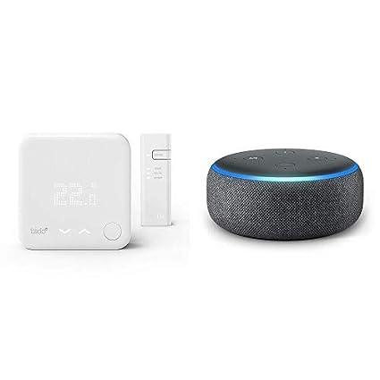 Echo Dot gris antracita + A: Termostato Kit de Inicio V3+