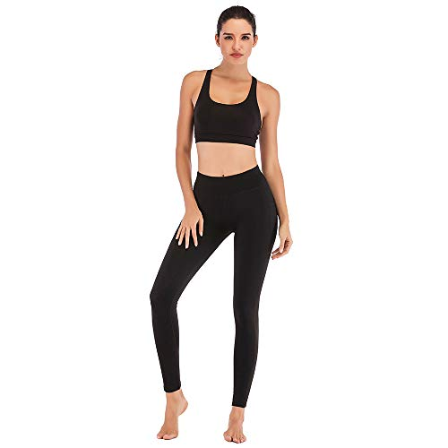 TXJ Sports High Waist Yoga Legging for Women with Cell Phone Pockets Workout Pants Tummy Control Gym Running Yoga Pants
